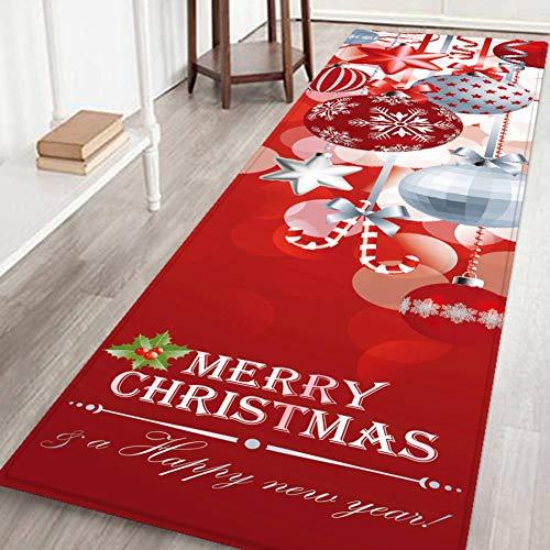 Hankyky Christmas Santa Snowmen Reindeer Floor Runner Area Rug…