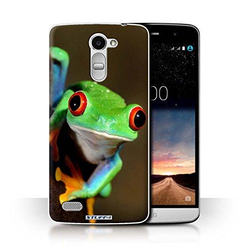 Hülle Für LG Ray/X190 Wilde Tiere Frosch Design Transparent Ultra Dünn Klar Hart Schutz Handyhülle Hülle