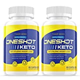 (2 Pack) One Shot Keto Weight Management Pills, One Shot Extra Strength Keto - Advanced Keto Diet Supplement - BHB Ultra Boost Exogenous Ketones Rapid Ketosis for Men Women (120 Capsules)