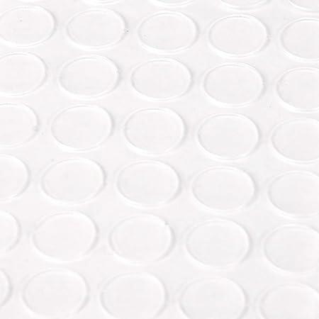 50 Stk. H/öhe: 1,6 mm Anschlagpuffer selbstklebend halbkugelf/örmig /Ø 8 mm haggiy Elastikpuffer transp.