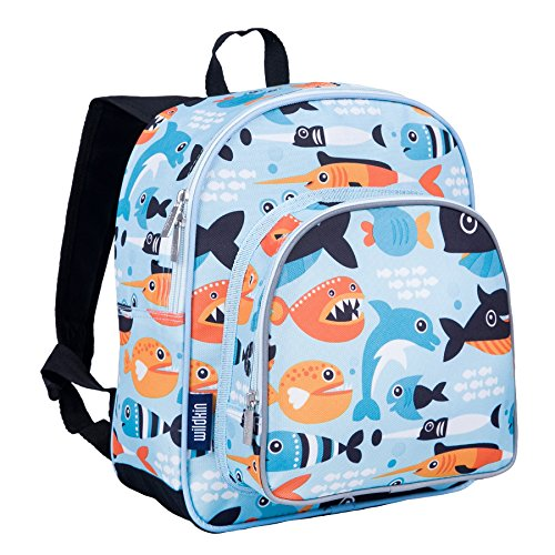 Wildkin W40603 Big Fish Pack 'n Snack Rucksack, Stoff, Blau