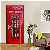 YQZYMT™ 3D Türwandbilder Kreative rote Telefonzelle 88 *