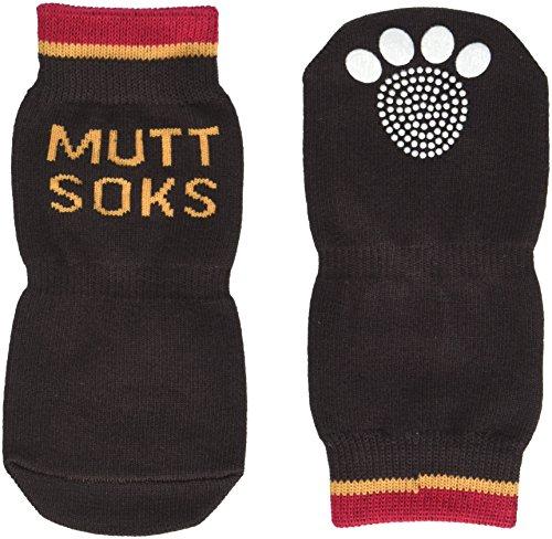 MUTTLUKS, MuttSoks Cotton Knit Dog Socks with Non-Slip Pads