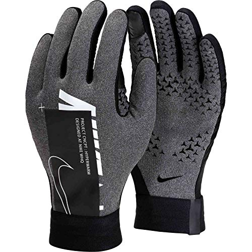 Nike Youth Academy Hyperwarm Gloves - Grey-White YL