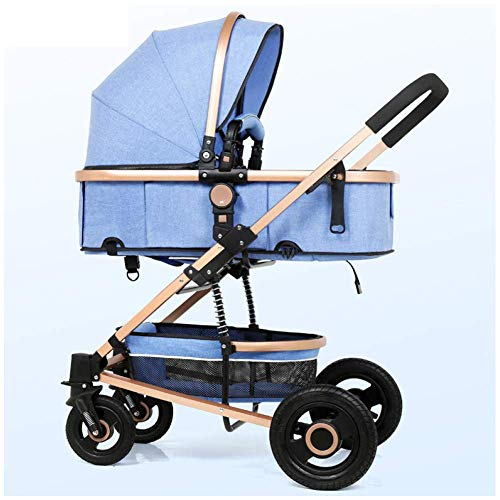 MNBV Travel System, Cochecito de bebé Buggies Cochecito Baby Jogger Amortiguación bidireccional Plegable 0-3 años, E