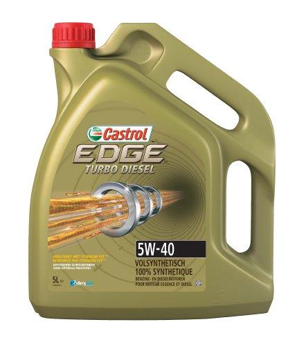 Castrol EDGE Turbo Diesel Aceite de Motores 5W-40 5L (Sello holandés y francés)