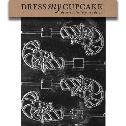 Best Bargain Dress My Cupcake DMCC142SET Chocolate Candy Mold, Candy Cane Lollipop, Set of 6