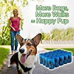 Bags On Board Dog Poop Bags | Strong, Leak Proof Dog Waste Bags | 9 x14 Inches, 315 Blue Bags 14