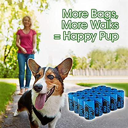 Bags On Board Dog Poop Bags | Strong, Leak Proof Dog Waste Bags | 9 x14 Inches, 315 Blue Bags 7