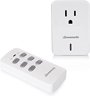 DEWENWILS Remote Control Electrical Outlet Wireless On Off Switch, Expandable Remote Light Switch Kit, 100ft RF Range, New Concise Compact Design, White (HRS10XB Series)