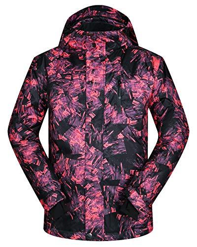 Men's Ski Jacket Outdoor Waterproof Windproof Coat Snowboard Mountain Rain Jacket New (US S(Asian...