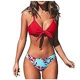 VODMXYGG Traje de baño de Mujer con Escote Cruzado y Cintura Baja Impresa Mujer Brasileños Bikinis 0916289