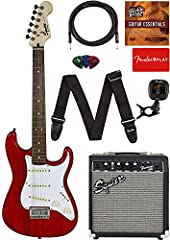 """24"""" scale length, 1.5"""" shorter than a standard-size Stratocaster; 36"""" overall length, 3.5"""" shorter than a standard-size Stratocaster """"C""""-shaped maple neck 20-fret fingerboard Three single-coil Stratocaster pickups Hardtail 6-saddle bridge"""