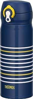 THERMOS 膳魔师 便携保温杯 一触即开型 400ml 海军蓝黄色 JNL-402 NV-Y