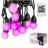 BECCALIGHTING Color Changing Outdoor String Lights