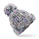 Beechfield torcitore Pompon Berretto-Casuale/Elegante Inverno Cappello Colori - Twist di Lavanda