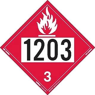 Labelmaster Z-IDG UN 1203 Flammable Liquid Hazmat Placard, Permanent Vinyl (Pack of 25)