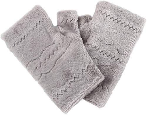 ~ Xiao Qin Frauen Fingerlose Handschuhe Thick Wärme Polarfleece Winter Herbst starke warme Handschuhe Tastatur Leak Finger-Handschuhe Herbst und Winterhandschuhe. (Color : Grey)