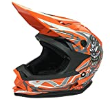 CASCHI Moto Bambini 3GO X10 Casco Motocross Crash off-Road Quad Pit ATV Dirt Bike MX Cross Bambino...
