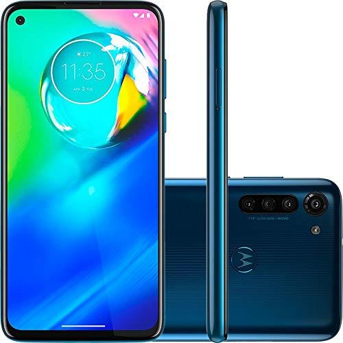 Smartphone Motorola Moto G8 Azul Capri 64gb Câmera 16mp + 8mp + 2mp + Foco à Laser