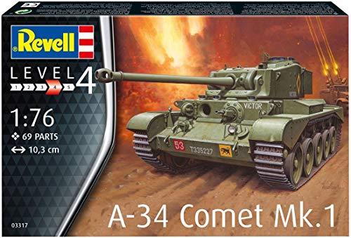 Revell 03317 A-34 Comet Mk.1 originalgetreuer Modellbausatz für Fortgeschrittene, unlackiert