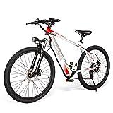 Coolautoparts Bicicleta Eléctrica 250W 26 Pulgadas para Hombres Mujeres/Bicicleta de Montaña/e-Bike 36V 8AH Batería de Litio Shimano 7 Velocidades Frenos de Disco 3 Modos [EU Stock]