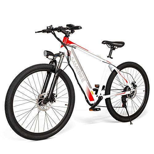 Bicicletta Elettrica Pedalata Assistita 250W 26 Pollici 30 km/h Uomo Donna/Mountain Bike/Bici da Montagna 36V 8AH Batteria al Litio Shimano 7 Velocità Freni a Disco 3 Modalità [EU STOCK]