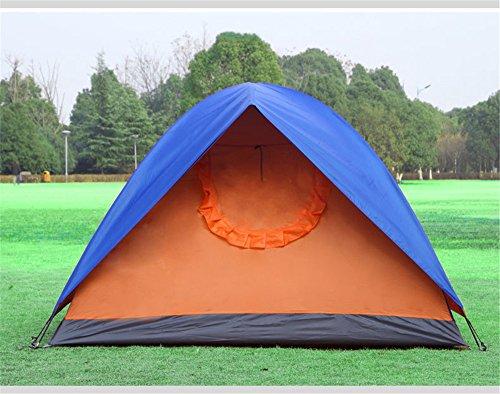 HONEYY 3 Lits superposés Simple Porte des tiges en Fibre de Verre tentes Camping Tentes Silver Band Mettre manuellement à l'extérieur des tentes 200 * 200 * 135cm