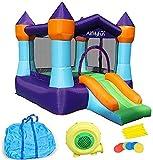 SANNA Casa Inflable de Rebote, Gorila con soplador de Aire, Castillo de Saltar con Diapositiva, Patio Interior al Aire Libre y Interior del Patio Trasero, Centro de Actividades para niños