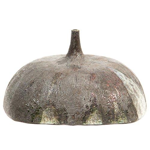Ceramiche Liberati - Botella de cerámica raku cuadrada.