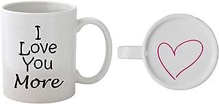 Funny Guy Mugs I Love You More Ceramic Coffee Mug, White, 11-Ounce