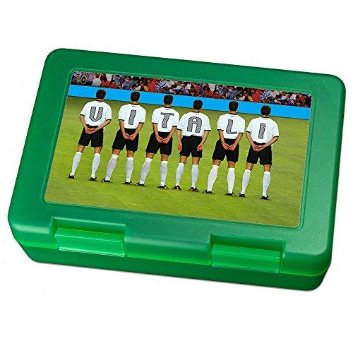 printplanet Brotdose mit Namen Vitali, Motiv Fußballmannschaft , Lunchbox mit Namen, Brotdose Light Green - Frühstücksdose Kunststoff lebensmittelecht