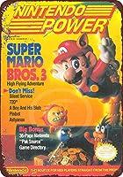 Shimaier 壁の装飾 メタルサイン Nintendo Power Magazine Super Mario bros 3 ウォールアート バー カフェ 縦20×横30cm ヴィンテージ風 メタルプレート ブリキ 看板