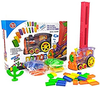 Automatic Train put dominoes in long rows-very long rows, kids toy