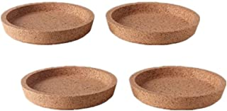 Ikea 365+ Cork Coasters with Deep Groove Insert 4 (10cm), Protect Tabletop Surface, Great Ikea Hack Jewelry Dish (4, 4 Diameter)