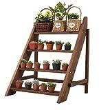 HSWYJJPFB Maceteros Decorativos Interior Soporte Macetas Flower Shelf Flower Pot Holder Planta Stands Garden Holder Display Shelf Ladder Outdoor/Indoor
