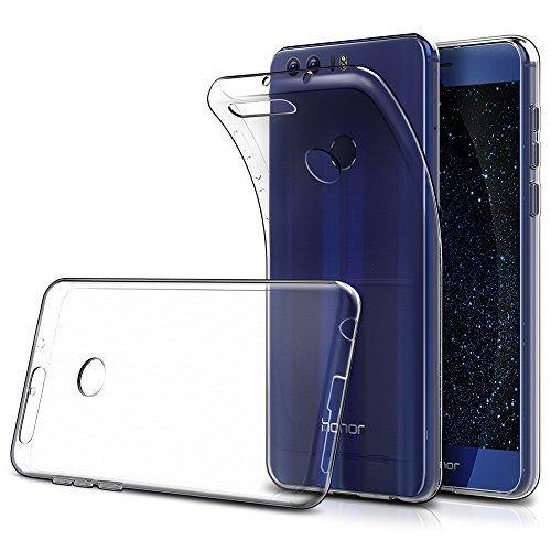Simpeak Cover Compatibile per Huawei Honor 8 5.2  (Confezione da 2), Custodia Chiaro Cristallo Liquid Crystal Estremamente Sottile & Puro Trasparente