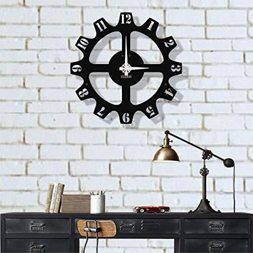 Dekadron Design unique Horloge murale en métal Chiffres 51x51cm noir