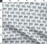 Elefant, Blaue Streifen, Wasserfarben, Babyelefanten, Junge