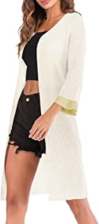 Women Button Down Open Front Long Knited Cardigan Outerwear