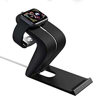 Cell Phone Stand iWatch Holder for Apple Watch Charger, KLKE NightStand Cradle Desk Dock Office Accessories Compatible with iPhone 11 Pro Xs Max XR X 8 7 6 Plus, iWatch 12345 and More Android Phones