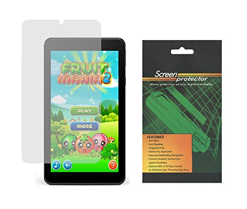 New Nook Tablet 7 Inch (BNTV450) 2016 Screen Protector, iShoppingdeals Ultra HD Crystal Clear Screen Protector Film Guard for Bares & Noble Nook Tablet 7 Inch 2016 Release- 2pcs