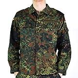 Original German Army Jacket Zipped Fleck-tarn Camouflage Tactical Combat BW Military Issue Field Shirt (XL Short)
