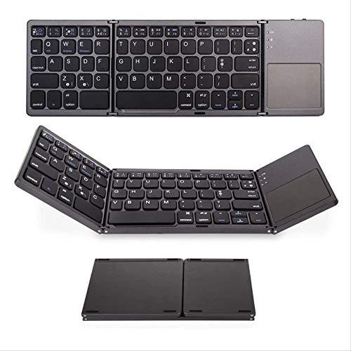 Mini-toetsenbord, opvouwbaar, draadloos, Bluetooth, voor tablet met muis. zwart.