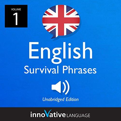 『Learn English: British English Survival Phrases, Volume 1』のカバーアート