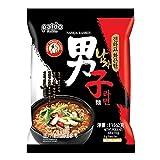 Paldo Fun & Yum Namja Ramen Hot & Spicy Instant Noodles, Pack of 5, Fiery Garlic Flavored Broth, Best Oriental Style Korean Ramyun, Spicy Ramen Challenge, K-Food, 팔도 남자라면 115g (4.05 oz) x 5