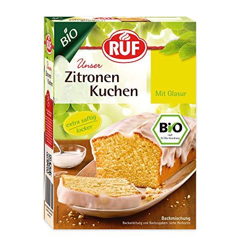 RUF Bio Zitronenkuchen mit fruchtiger Zitronenglasur extra saftig und locker, 4er Pack (4 x 475 g)