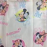 NADA HOME Cortina Mickey Mouse Disney Velo Original Idea De Regalo Dormitorio Niño Espárragos - Crema,