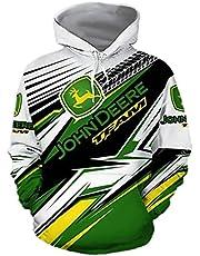 Unisex 3D Print Hoodie, Heren Hoodies Jas Voor John Deere, Hoodie Sweater Met Lange Mouwen Pullover, Sweatshirts Met Zakken