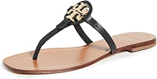 Tory Burch Women's Mini Miller Leather Thong Sandals